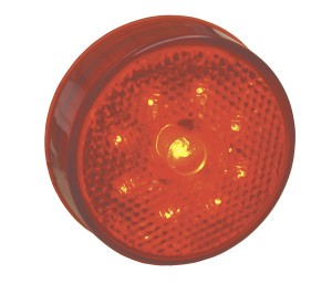 G1002 – Hi Count® 2 1/2″ LED Clearance Marker Light, Built-In Reflector, Red