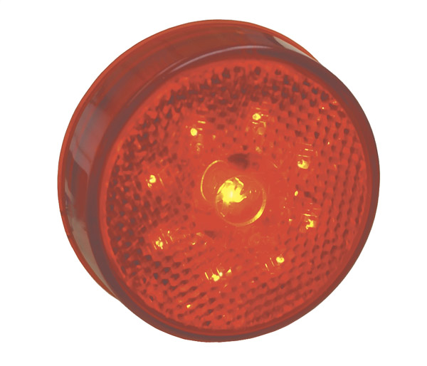 Grote Industries - G1002 – Hi Count® 2 1/2″ LED Clearance Marker Light, Built-In Reflector, Red
