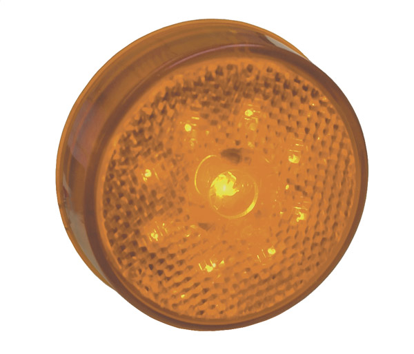 Grote Industries - G1003 – Hi Count® 2 1/2″ LED Clearance Marker Light, Built-In Reflector, Yellow