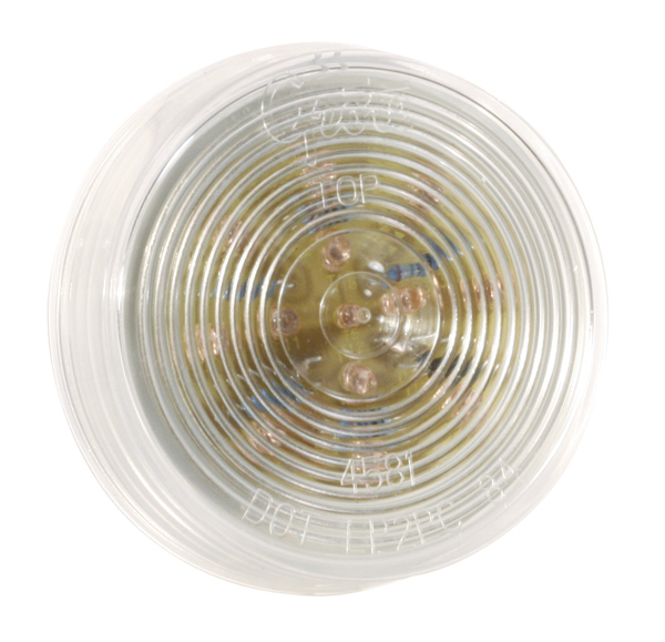 G1043 – Hi Count® 2 1/2″ LED Clearance Marker Light, Optic, Yellow w/ Clear Lens