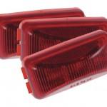 hi count 3 diode led clearance marker light bulk red