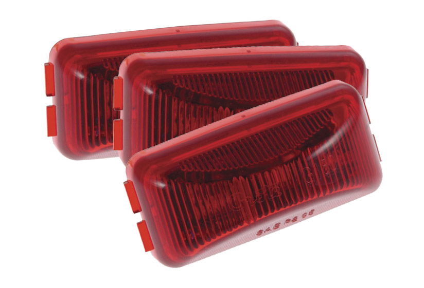 Grote Industries - G1502-3 – 3″ Hi Count® 3-Diode LED Clearance Marker Lights, Red, Bulk Pack
