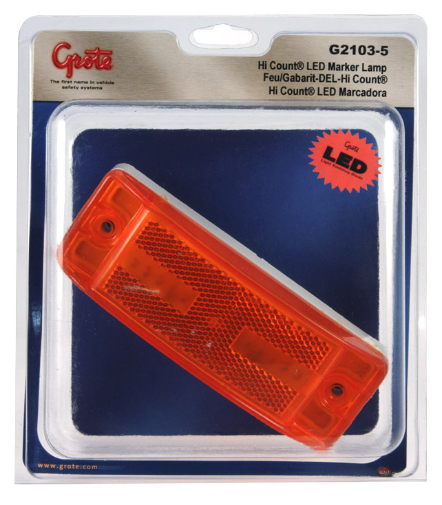 G2103-5 – Hi Count® Turtleback® II LED Clearance Marker Light, Yellow, Retail Pack
