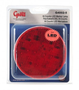 G4002-5 – Hi Count® 4″ LED Stop Tail Turn Light, Red, Retail Pack