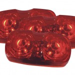 hi count square corner 13 diode led clearance marker light red bulk