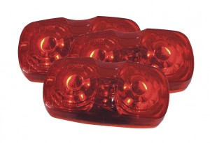 G4602-3 – Hi Count® Square-Corner 13-Diode LED Clearance Marker Light, Red, Bulk Pack