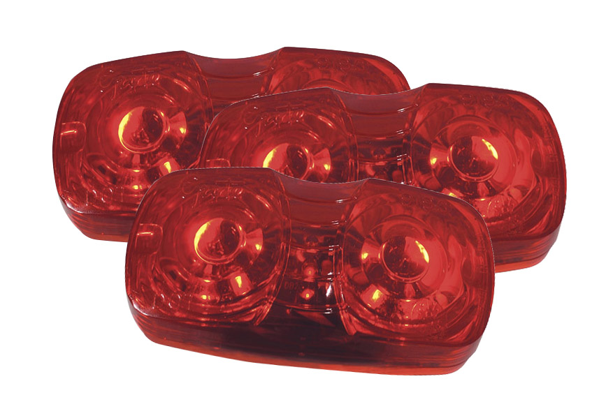 Grote Industries - G4602-3 – Hi Count® Square-Corner 13-Diode LED Clearance Marker Light, Red, Bulk Pack