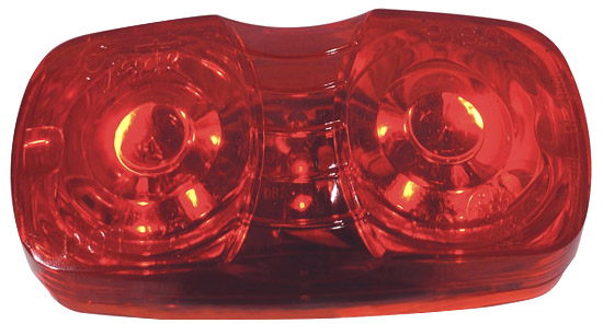 G4602 – Hi Count® Square-Corner 13-Diode LED Clearance Marker Light, Red