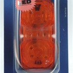 hi count square corner 13 diode led clearance marker light yellow retail