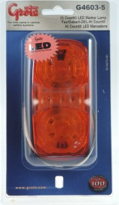 G4603-5 – Hi Count® Square-Corner 13-Diode LED Clearance Marker Light, Yellow, Retail Pack