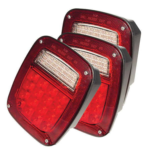 G5082-3 – Hi Count® LED Stop Tail Turn Light, RH w/out Side Marker, Red, Bulk Pack