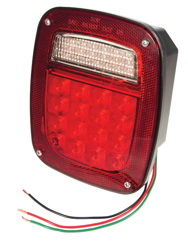 G5082-5 – Hi Count® LED Stop Tail Turn Light, RH w/out Side Marker, Red, Retail Pack