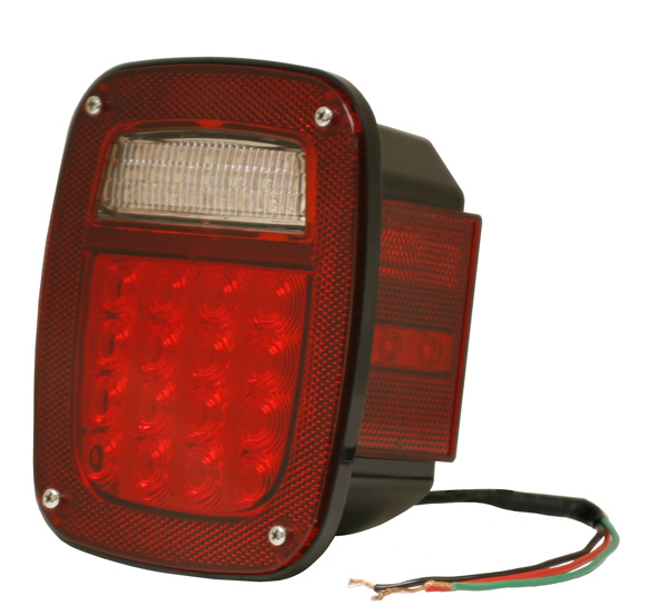 G5202 – Hi Count® 4″ LED Stop Tail Turn Light, RH w/ Side Marker, Red