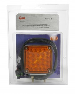 G5543-5 – Hi Count® Double-Face LED Stop Tail Turn Light w/ Side Marker, w/ Packard Connector, Yellow/Yellow, Retail Pack