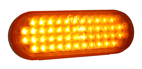 Grote Industries - G6003 – Hi Count® Oval LED Stop Tail Turn Light, Yellow