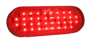 G6012 – Hi Count® Oval LED Stop Tail Turn Light, Red w/ Clear Lens