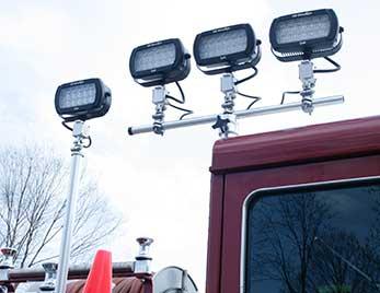 Luces Trilliant Grote en camión de bomberos
