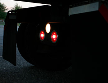 LED Stop Tail Turn Lights on heavy duty truck