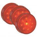 hi count 2 1/2 led clearance marker light red bulk