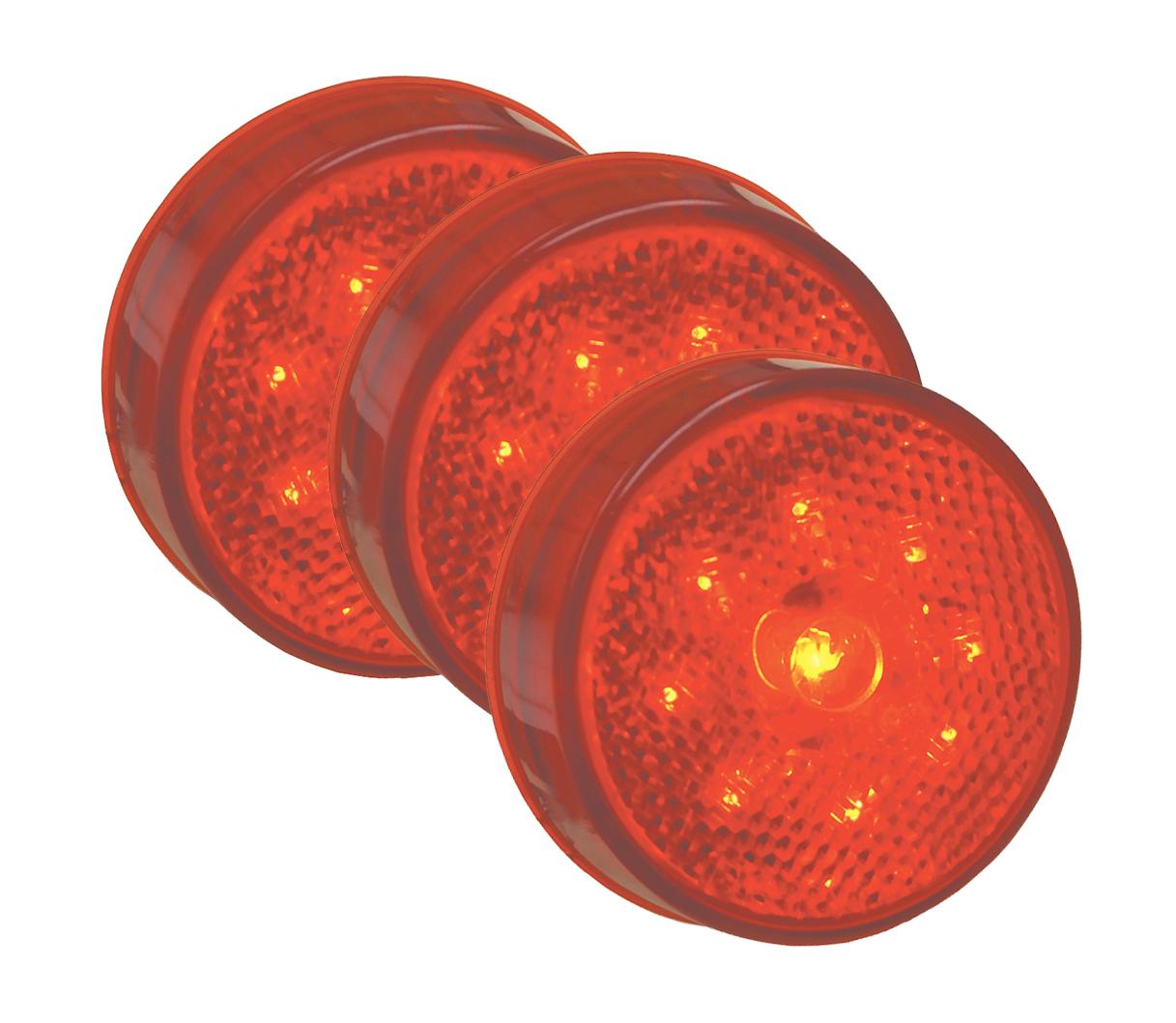 G1002-3 – Hi Count® 2 1/2″ LED Clearance Marker Light, Built-In Reflector, Red, Bulk Pack