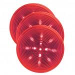 bulk optic red hi count 2 half led clearance marker light
