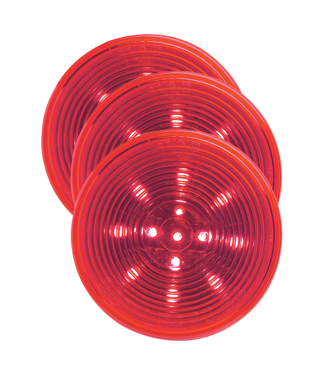 Grote Industries - G1032-3 – Hi Count® 2 1/2″ LED Clearance Marker Light, Optic, Red, Bulk Pack