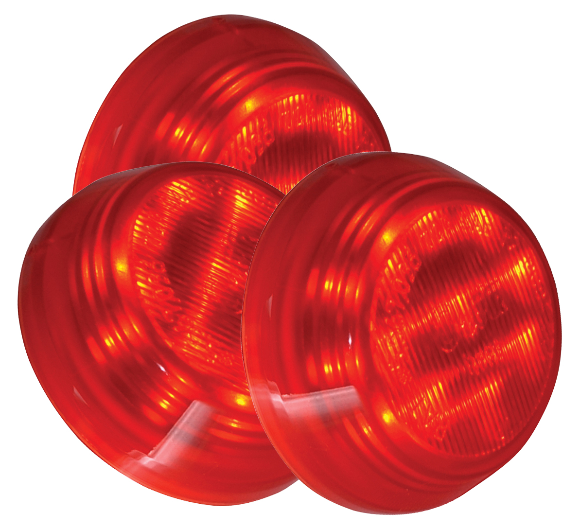 Grote Industries - G1092-3 – Hi Count® 2 1/2″ 9-Diode LED Clearance Marker Light, Red, Bulk Pack