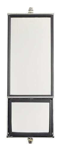 16043 – OEM-Style Split-Focus West Coast Box Mirror, Stainless Steel