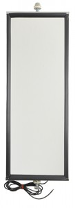 16063 – West Coast Mirror with Clearance Light, 6″ x 16″ Mirror, Stainless Steel