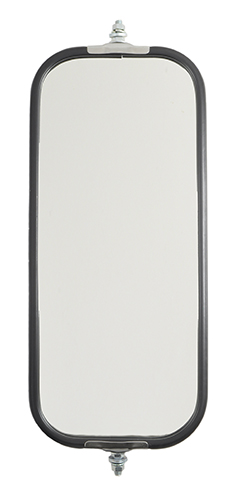 16093 – OEM-Style Flat Ribbed-Back West Coast Mirror, Stainless Steel