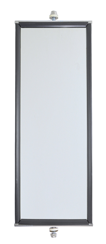 16023 – OEM-Style West Coast Box Mirror, 6″ x 16″ Length, Stainless Steel