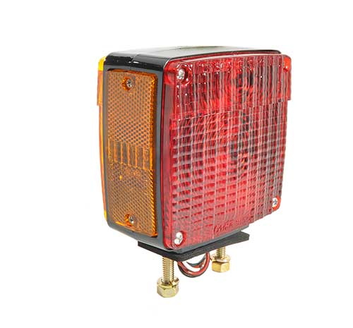 Grote Industries - 55420 – Two-Stud Light w/ Pigtail, LH, Red/Yellow