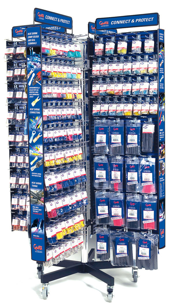 01062 – 8 Sided Electrical Accessory Display, 72″ Tall x 48″ Wide