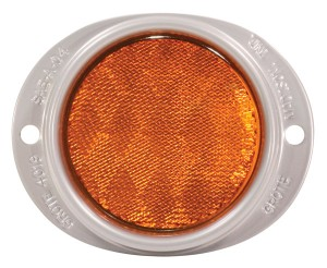 40193 – Steel Two-Hole Mounting Reflector, Yellow