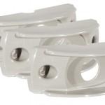 Surface Mount Bracket For MicroNova® Or MicroNova® Dot, Oval Mini Marker, Gray, Bulk Pack