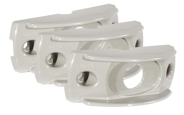 42110-3 – Surface Mount Bracket For MicroNova® Or MicroNova® Dot, Oval Mini Marker, Gray, Bulk Pack