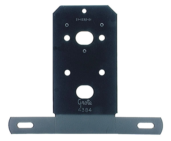 Grote Industries - 43842 – Universal License Plate Bracket, Black Enamel