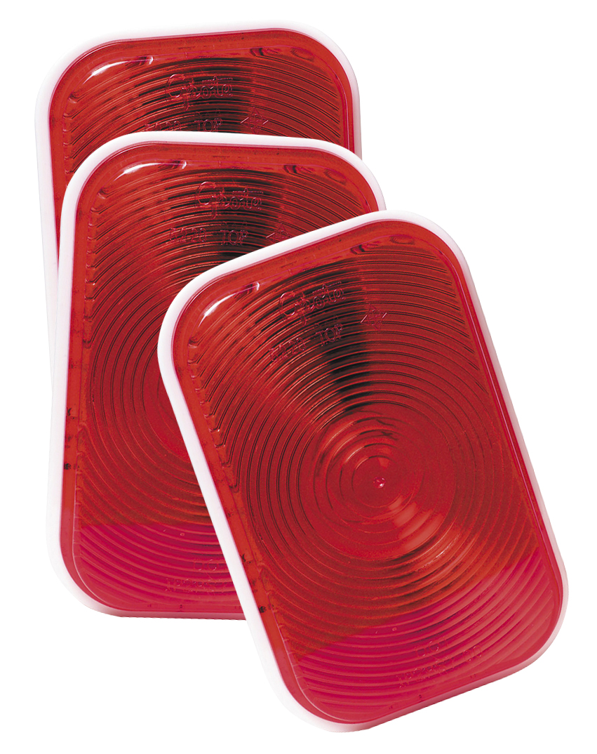 52202-3 – Rectangular Stop Tail Turn Light, Double Contact, Red, Bulk Pack