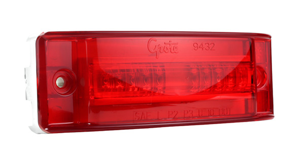 Grote Industries - 54002-3 – SuperNova® Turtleback® II LED High Mount Stop Turn Marker Light, Red, Bulk Pack