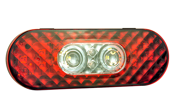 54702 – 6″ Oval LED Stop/Tail/Turn with Integrated Back-Up Light, Integrated Hard Shell