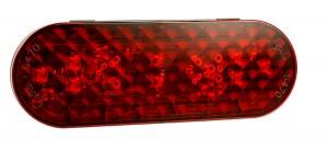 """54762 - Luz LED de frenado/trasera/direccional, ovalada, 6"""", terminación de clavija hembra, rojo"""