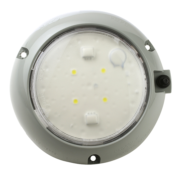 61171 – LED WhiteLight™ 4″ Dome Light, Surface Mount w/ Switch, Hardwire, 12V, White