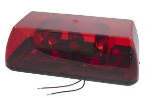 76802 – 15″ Rotating Mini Light Bar, Gear Drive, Red