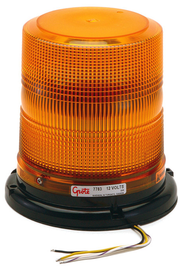 Grote Industries - 77833 – High Profile Class II LED Strobe, Yellow