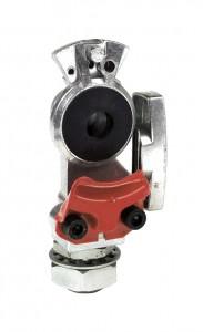 81-0001-SBR – Gladhand, Knob Style, Bulkhead, Shut-Off Emergency, Red
