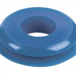 Seals, Polyurethane, Small Face, Blue, 100pk