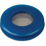 Blue polyurethane seal with built in filter screen
