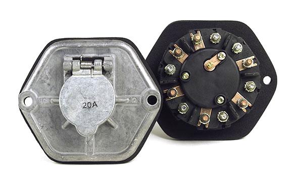 82-0853 – Zinc Die Cast 7-Way Socketbreakers, 7 Pole, With No Circuits