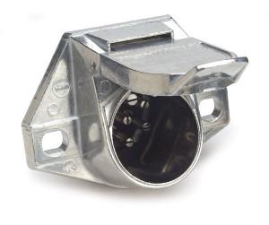 82-1005 – Heavy Duty 7-Way Connectors, Socket w/ Exposed Terminals, Solid Pin