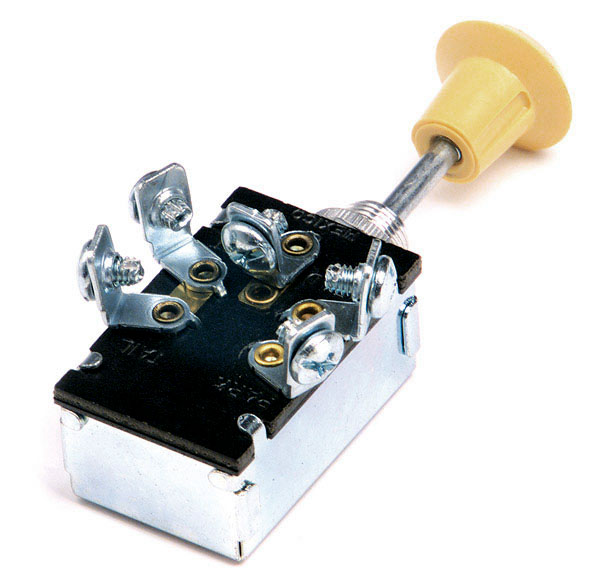 82-2107 – Push/Pull Switch, Heavy Duty Switch, Off/On/On, 5 Screw